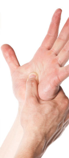 Treatment for symptoms of hand pain